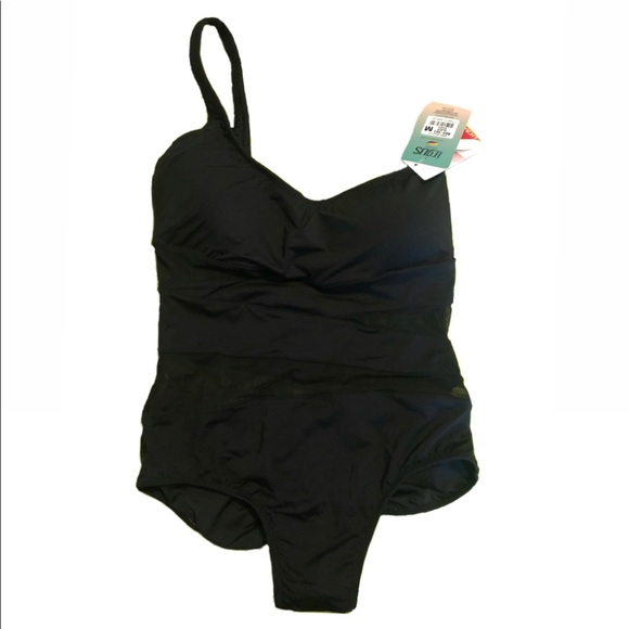 (NEW) Black swimsuit with transparency straps